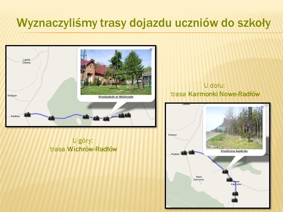 Wyznaczyliśmy trasy dojazdu uczniów do szkoły