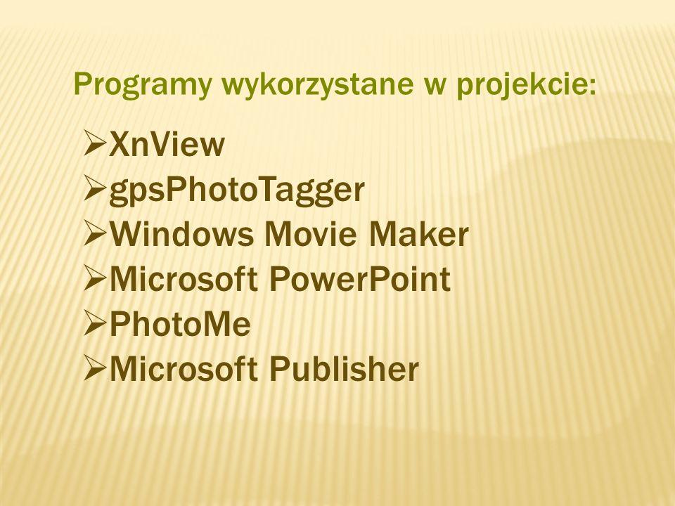 Programy wykorzystane w projekcie: