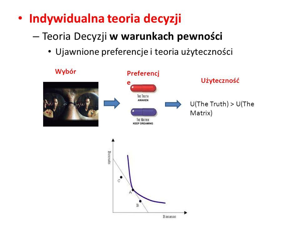 Indywidualna teoria decyzji