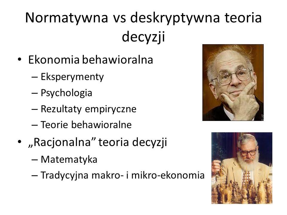 Normatywna vs deskryptywna teoria decyzji