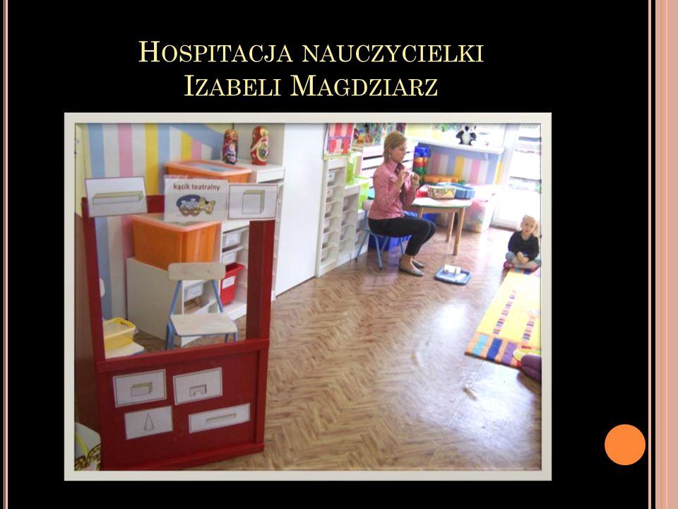 Hospitacja nauczycielki Izabeli Magdziarz