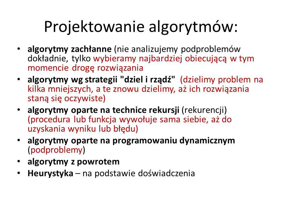 Projektowanie algorytmów: