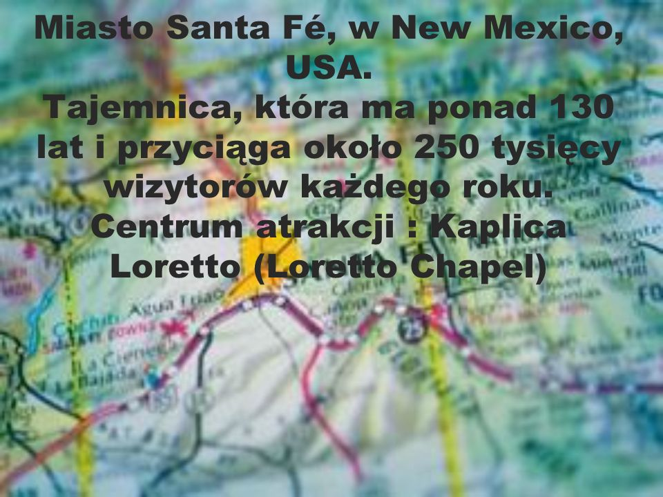 Miasto Santa Fé, w New Mexico, USA