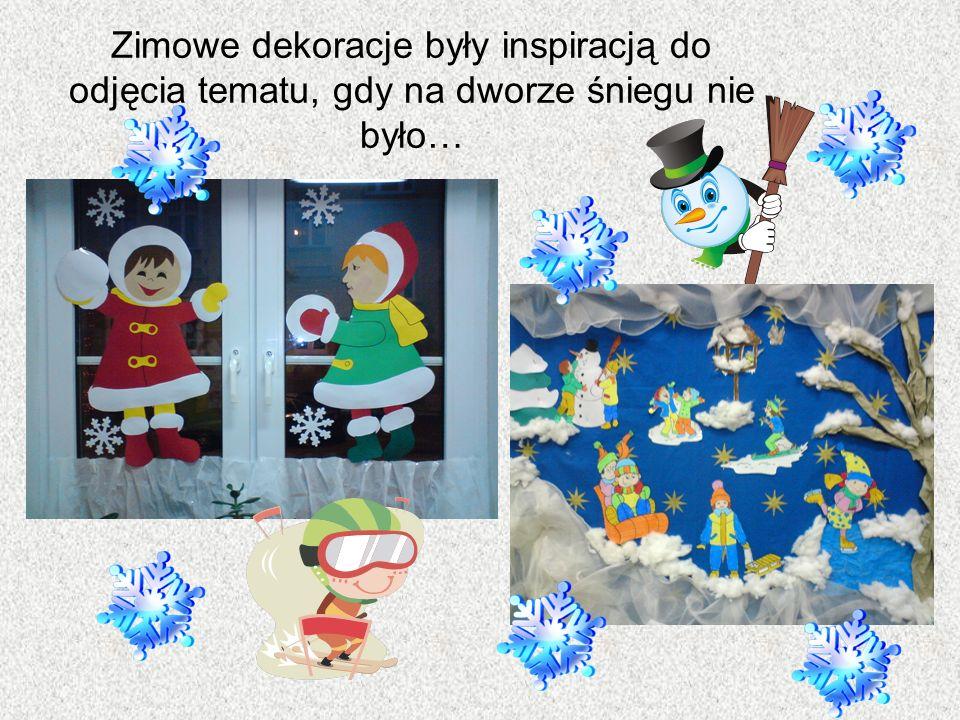 Zimowe dekoracje były inspiracją do odjęcia tematu, gdy na dworze śniegu nie było…