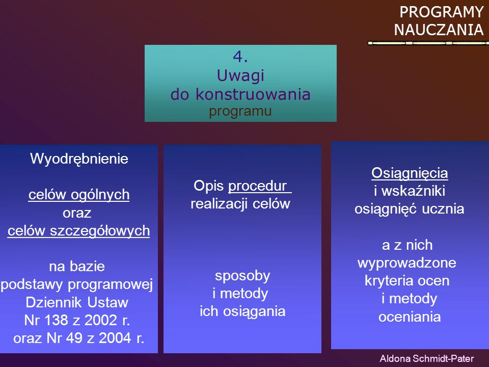 do konstruowania programu