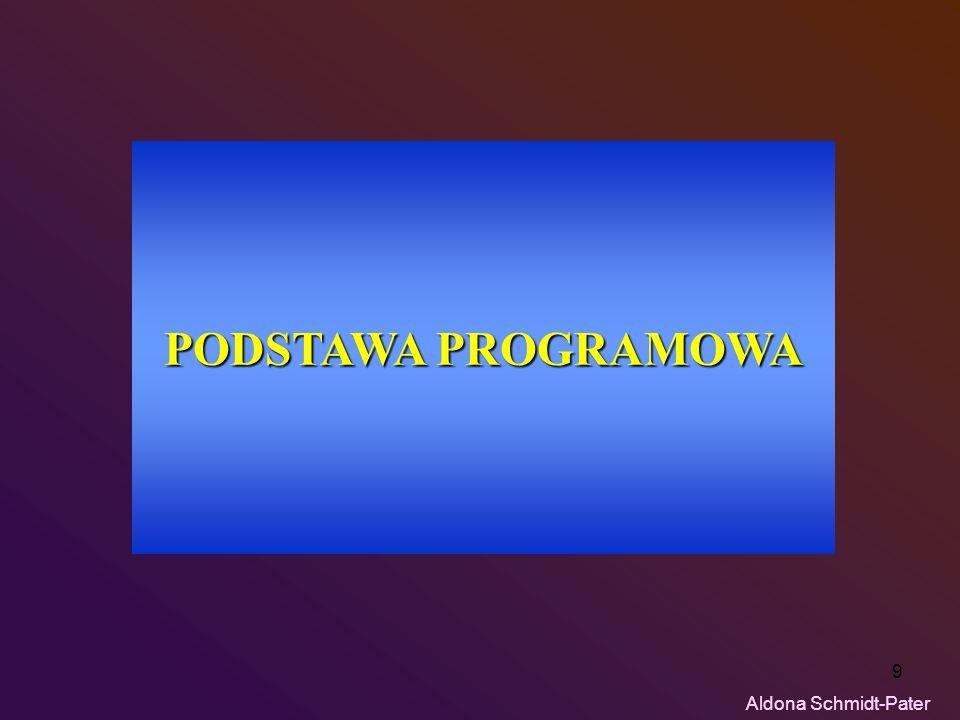 PODSTAWA PROGRAMOWA Aldona Schmidt-Pater