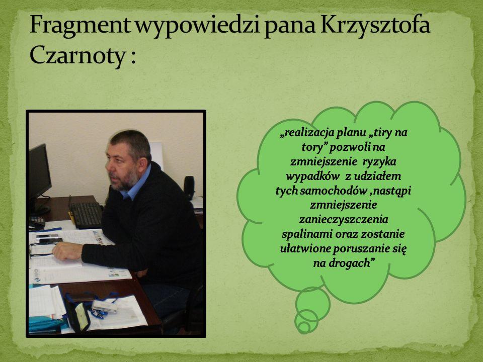 Fragment wypowiedzi pana Krzysztofa Czarnoty :