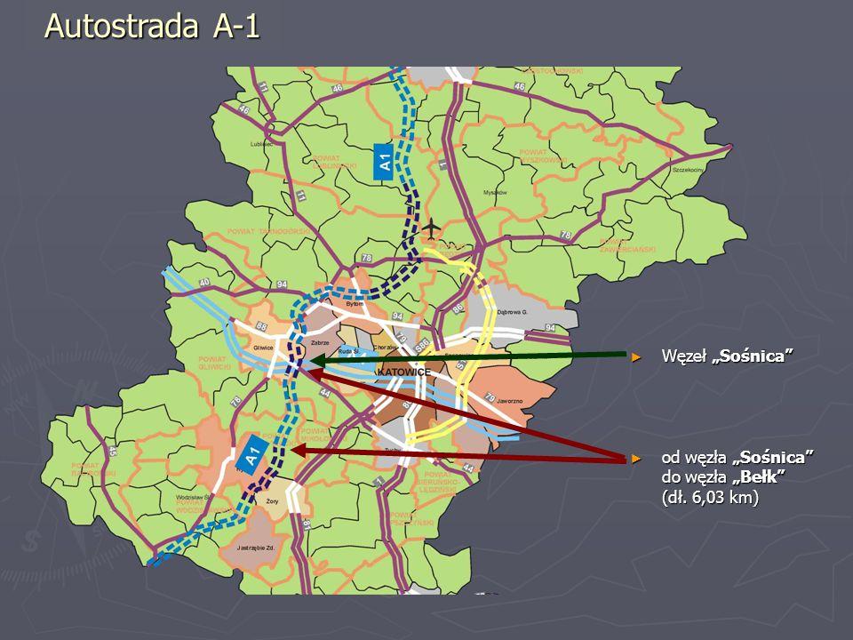 """Autostrada A-1 Węzeł """"Sośnica"""