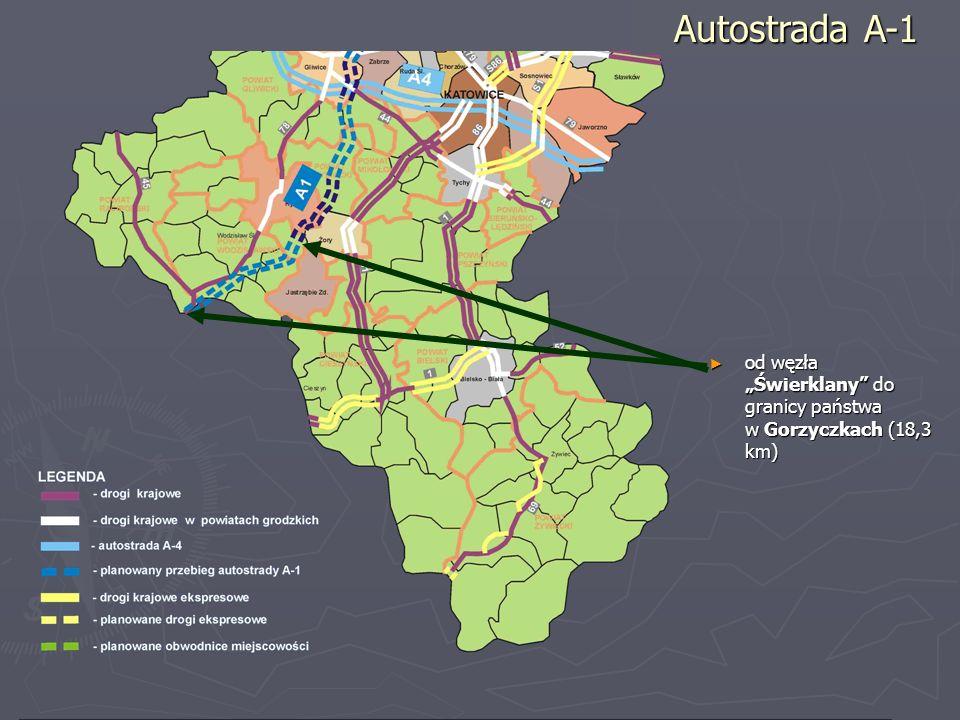 """Autostrada A-1 od węzła """"Świerklany do granicy państwa w Gorzyczkach (18,3 km)"""