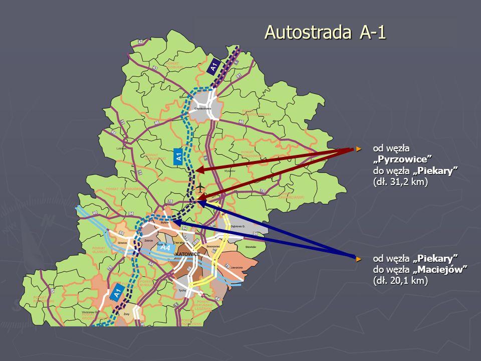 """Autostrada A-1 od węzła """"Pyrzowice do węzła """"Piekary (dł. 31,2 km)"""