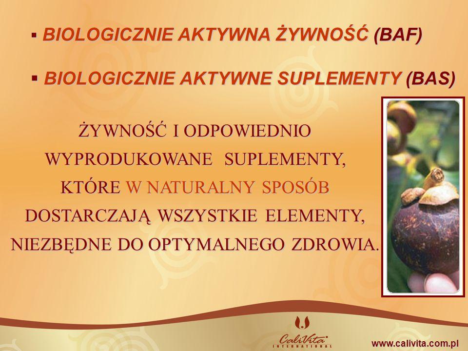 BIOLOGICZNIE AKTYWNE SUPLEMENTY (BAS)