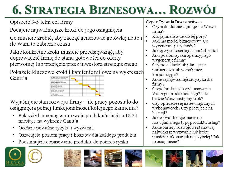 6. Strategia Biznesowa… Rozwój