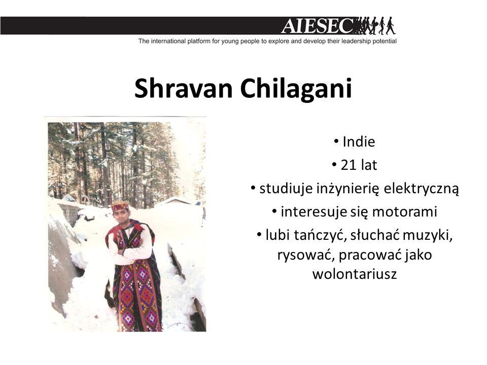 Shravan Chilagani Indie 21 lat studiuje inżynierię elektryczną