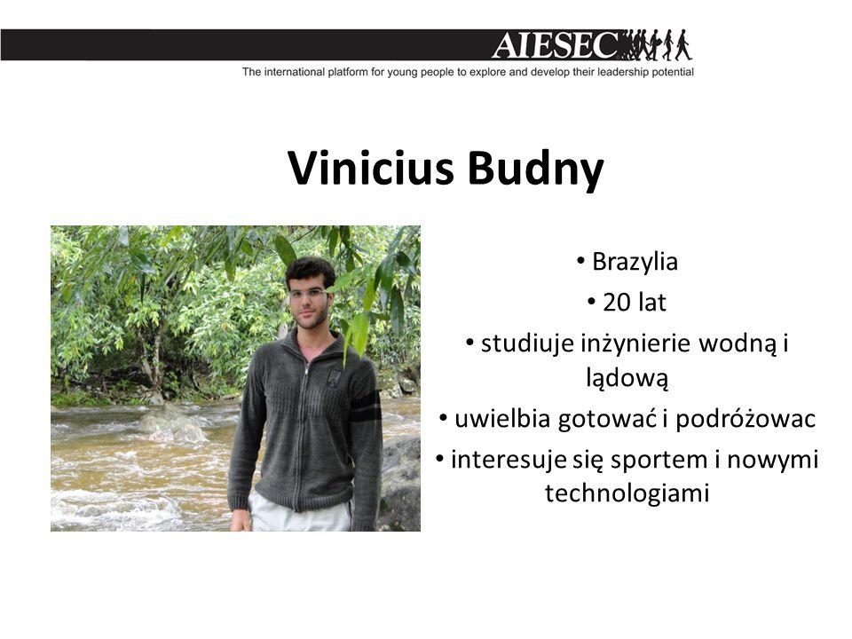 Vinicius Budny Brazylia 20 lat studiuje inżynierie wodną i lądową