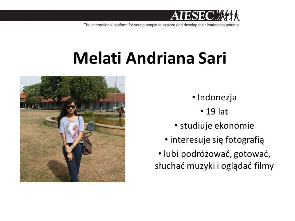 Melati Andriana Sari Indonezja 19 lat studiuje ekonomie