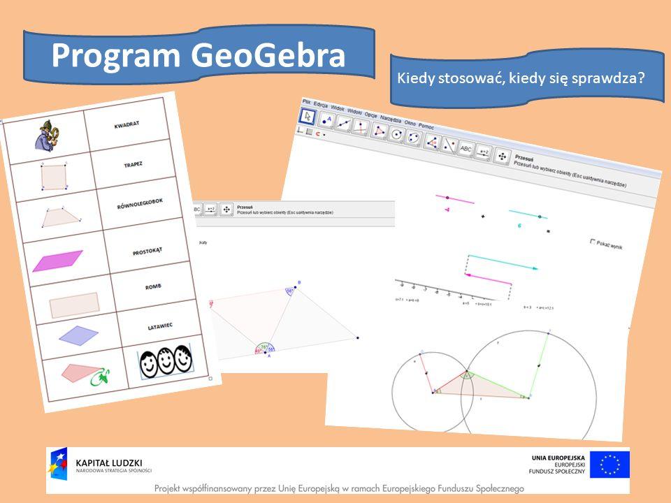 Program GeoGebra Kiedy stosować, kiedy się sprawdza
