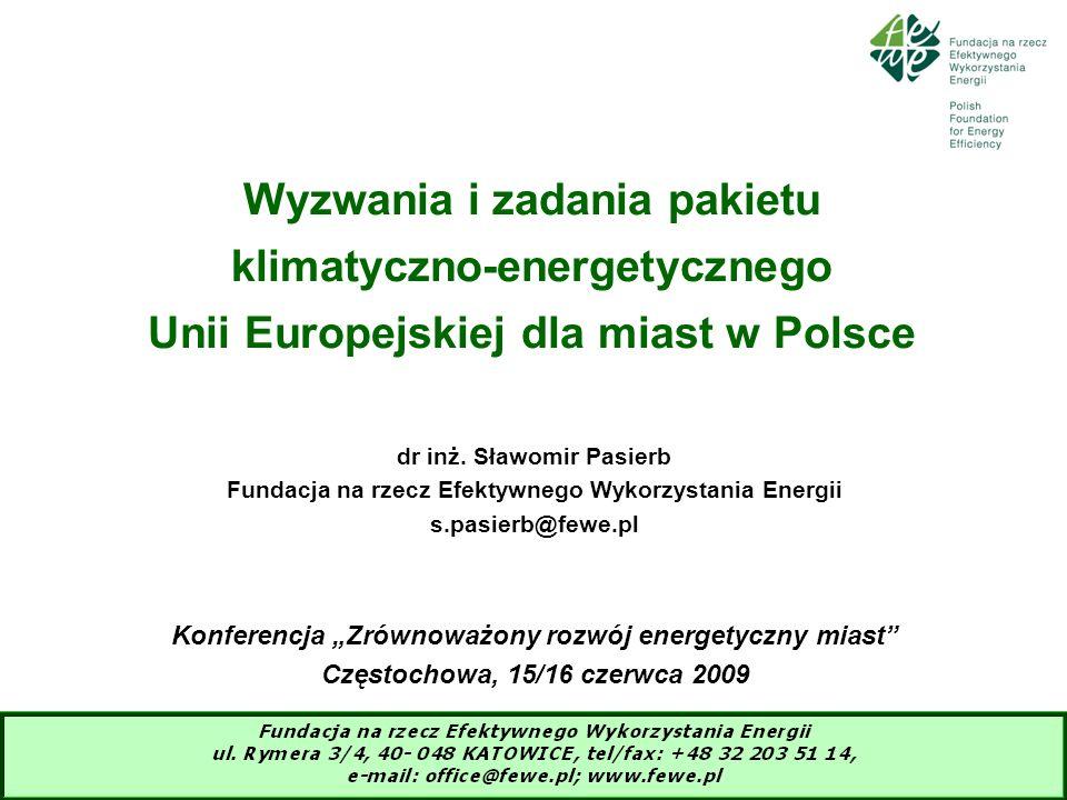 Wyzwania i zadania pakietu klimatyczno-energetycznego