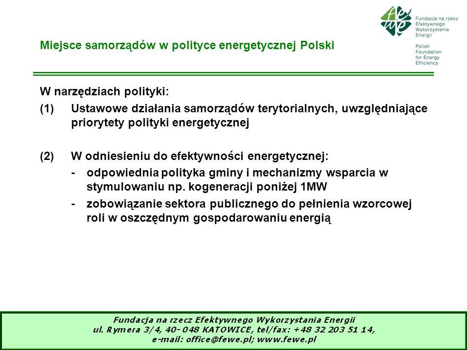 Miejsce samorządów w polityce energetycznej Polski