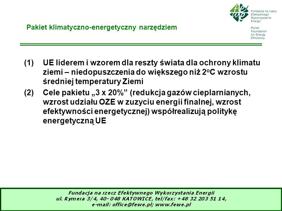 Pakiet klimatyczno-energetyczny narzędziem