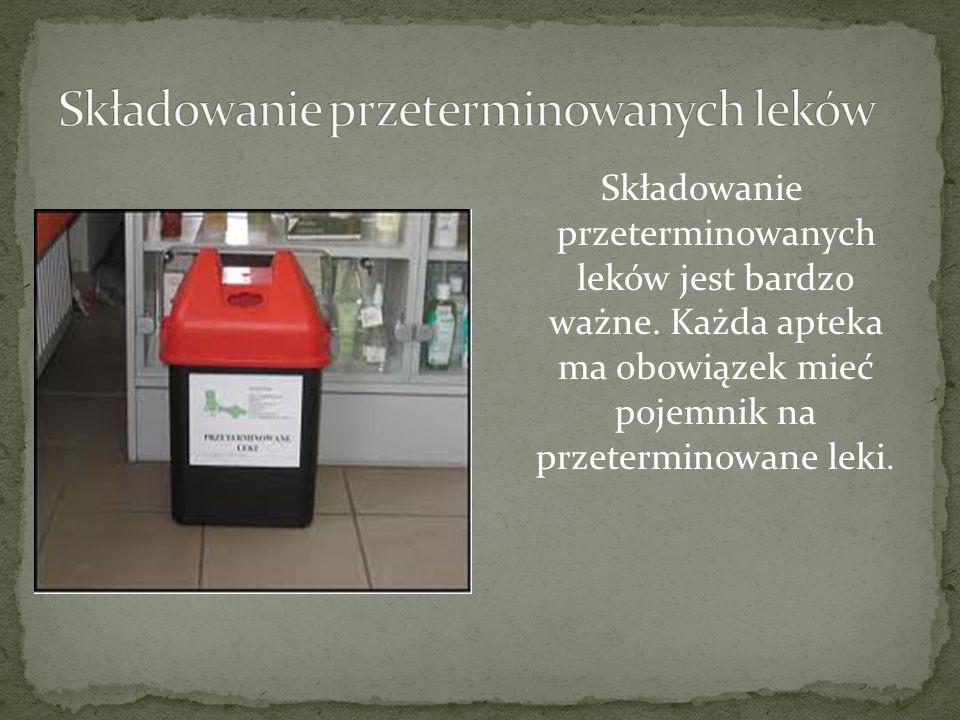 Składowanie przeterminowanych leków