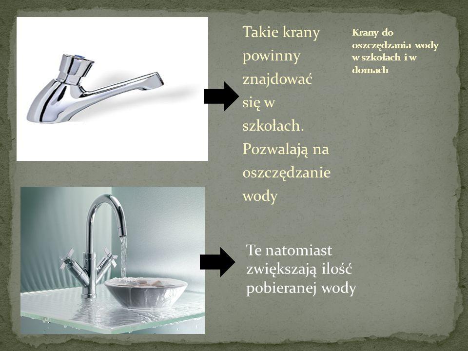 Krany do oszczędzania wody w szkołach i w domach