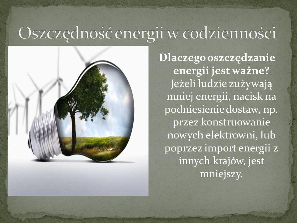 Oszczędność energii w codzienności