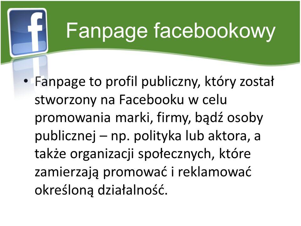 Fanpage facebookowy