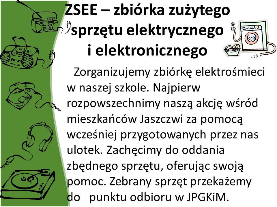 ZSEE – zbiórka zużytego sprzętu elektrycznego i elektronicznego