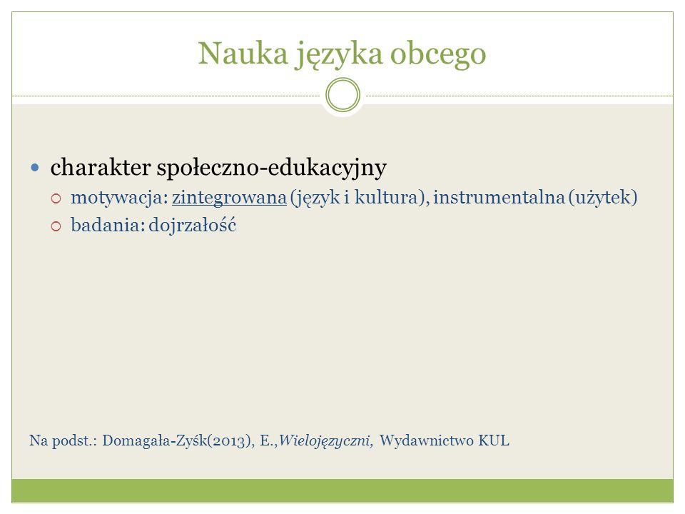 Nauka języka obcego charakter społeczno-edukacyjny