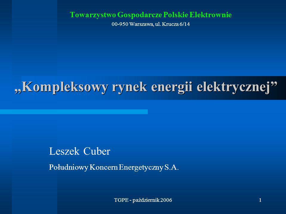 """""""Kompleksowy rynek energii elektrycznej"""