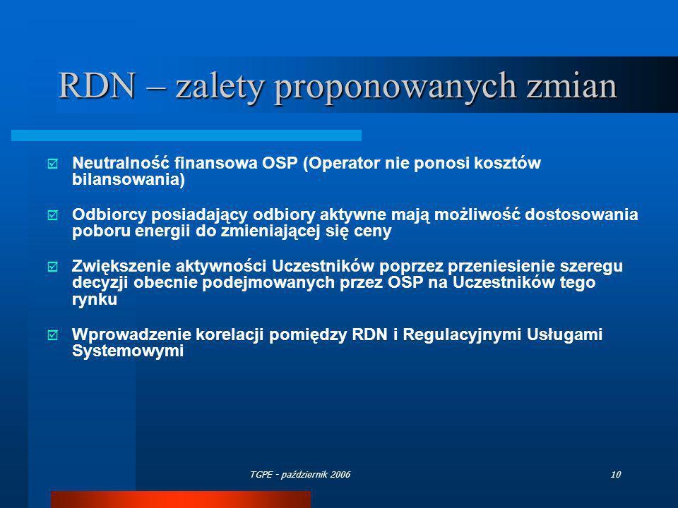 RDN – zalety proponowanych zmian