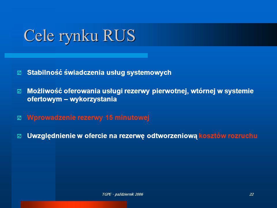 Cele rynku RUS Stabilność świadczenia usług systemowych