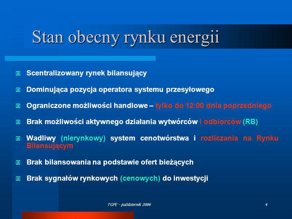Stan obecny rynku energii