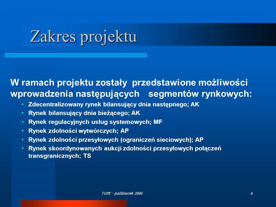 Zakres projektu W ramach projektu zostały przedstawione możliwości wprowadzenia następujących segmentów rynkowych: