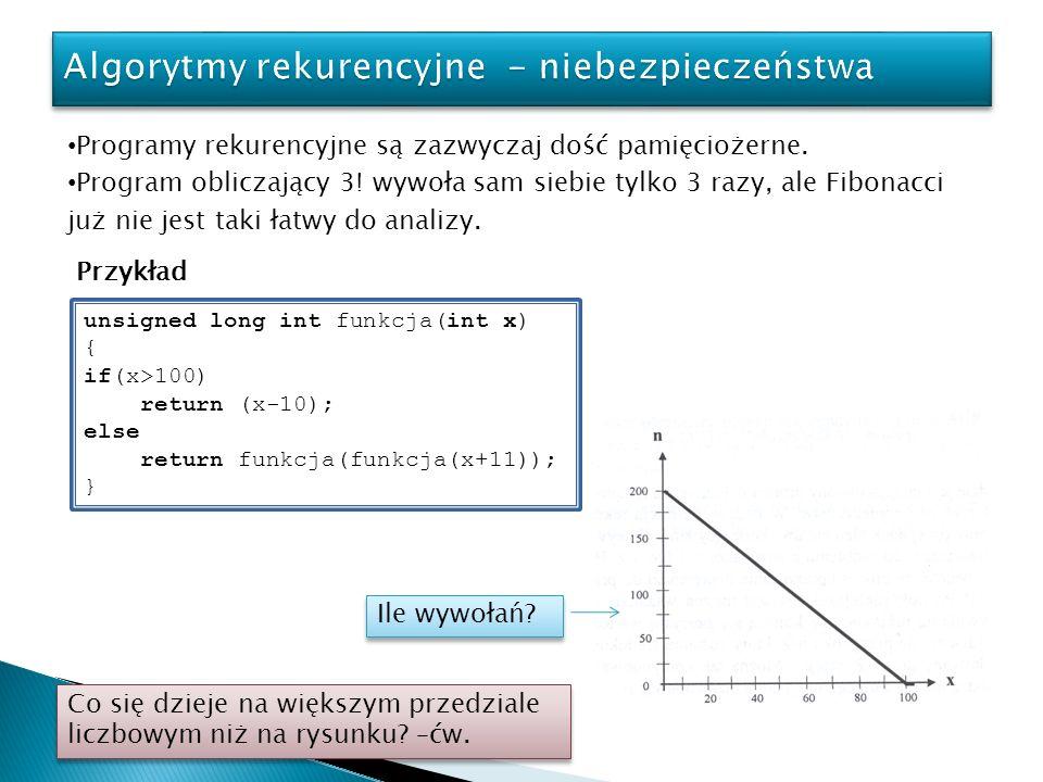 Algorytmy rekurencyjne - niebezpieczeństwa