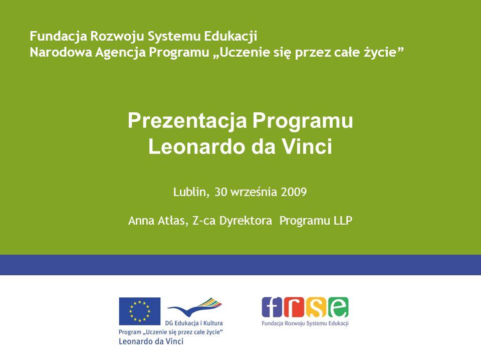 Anna Atłas, Z-ca Dyrektora Programu LLP