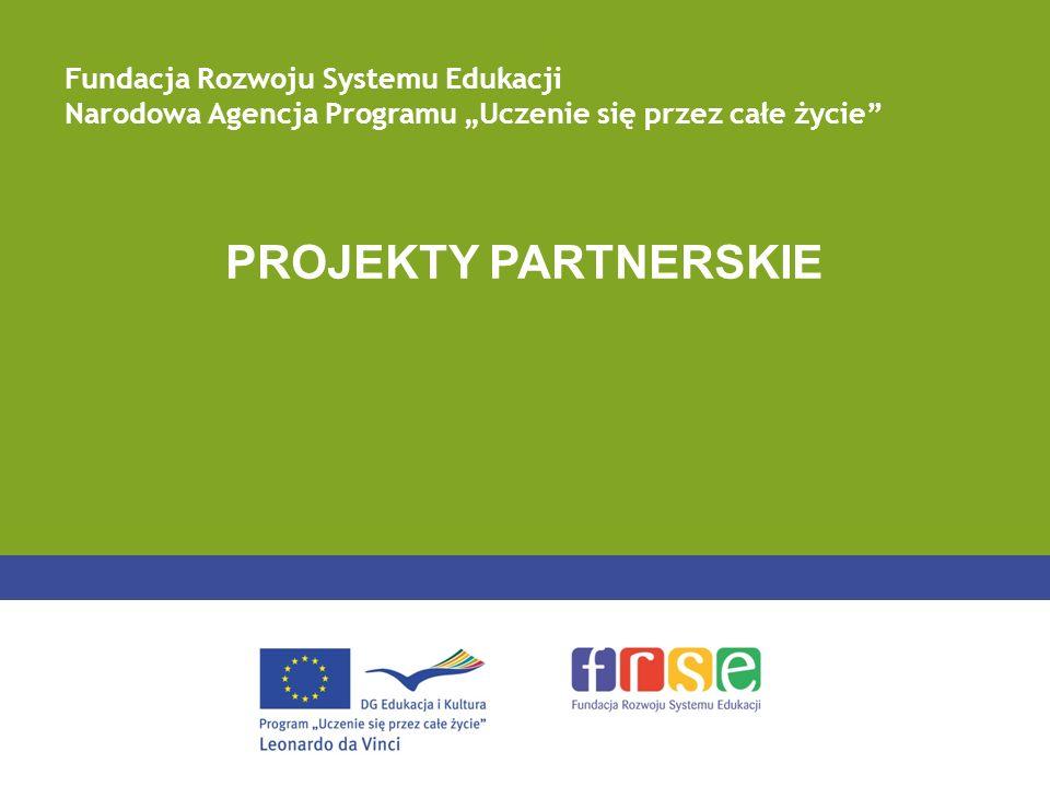 PROJEKTY PARTNERSKIE Fundacja Rozwoju Systemu Edukacji