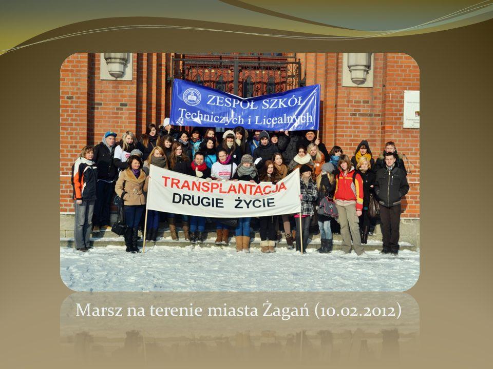 Marsz na terenie miasta Żagań (10.02.2012)