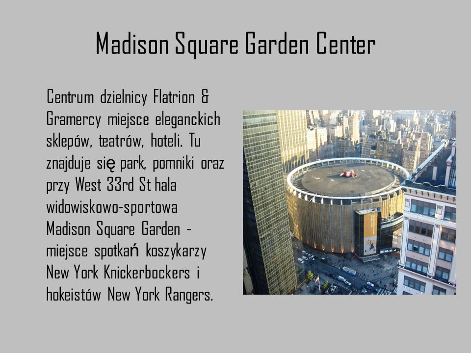 Madison Square Garden Center