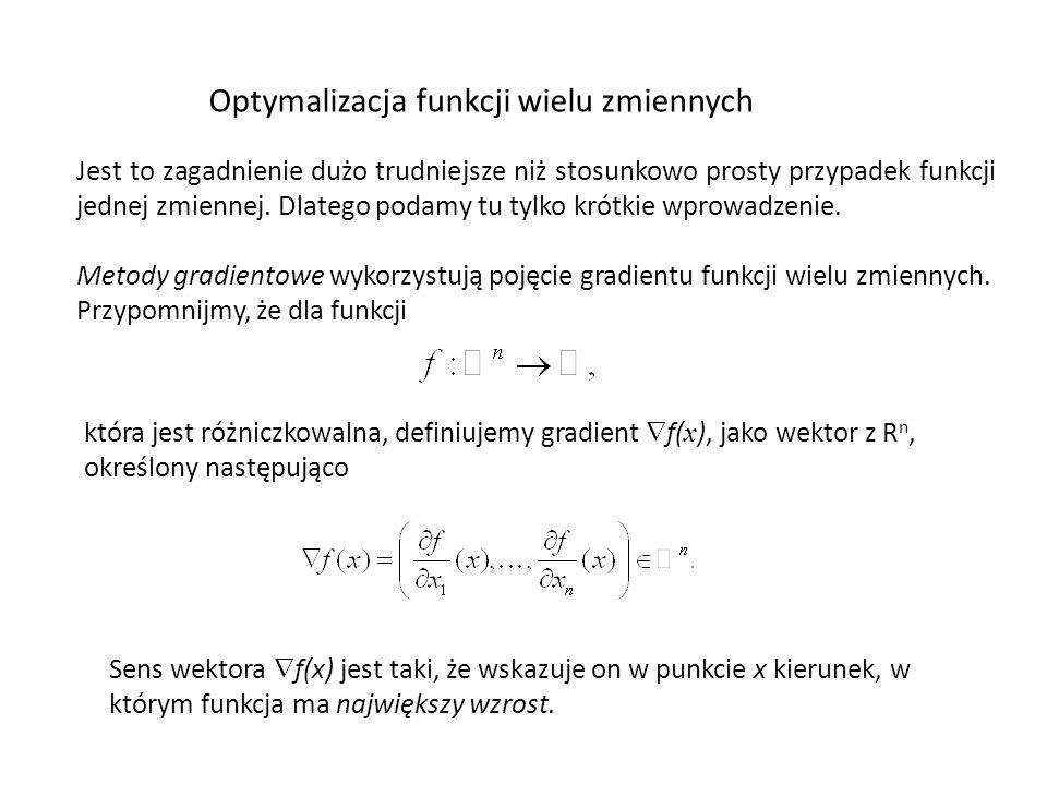 Optymalizacja funkcji wielu zmiennych