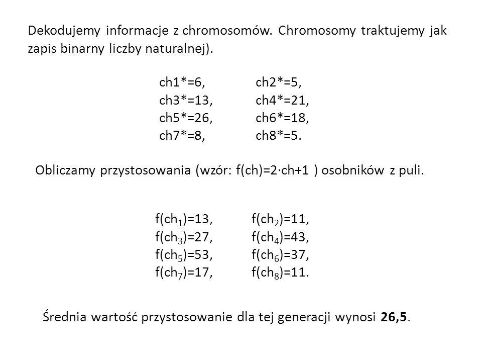 Dekodujemy informacje z chromosomów
