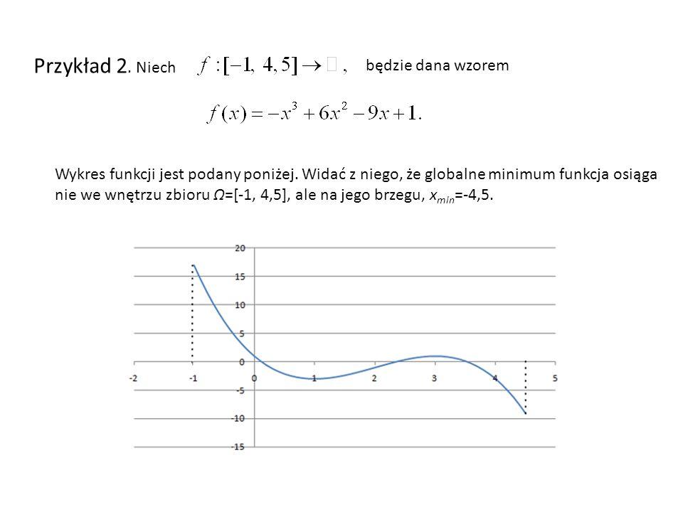 Przykład 2. Niech będzie dana wzorem