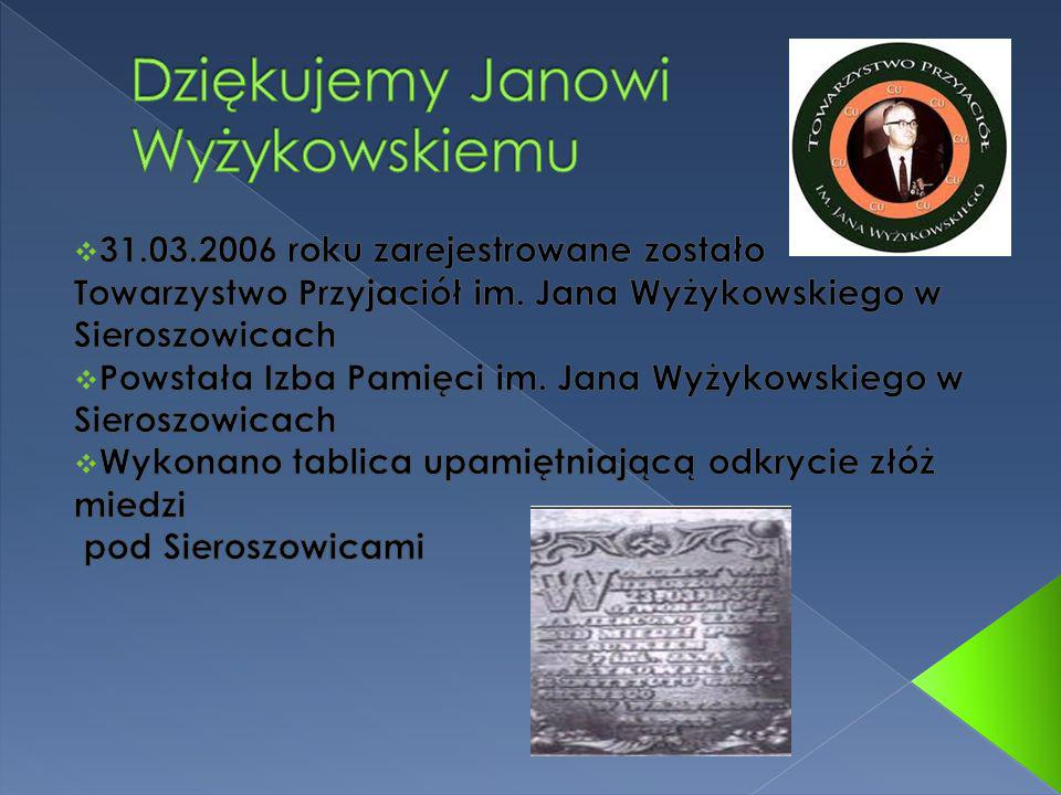 Dziękujemy Janowi Wyżykowskiemu