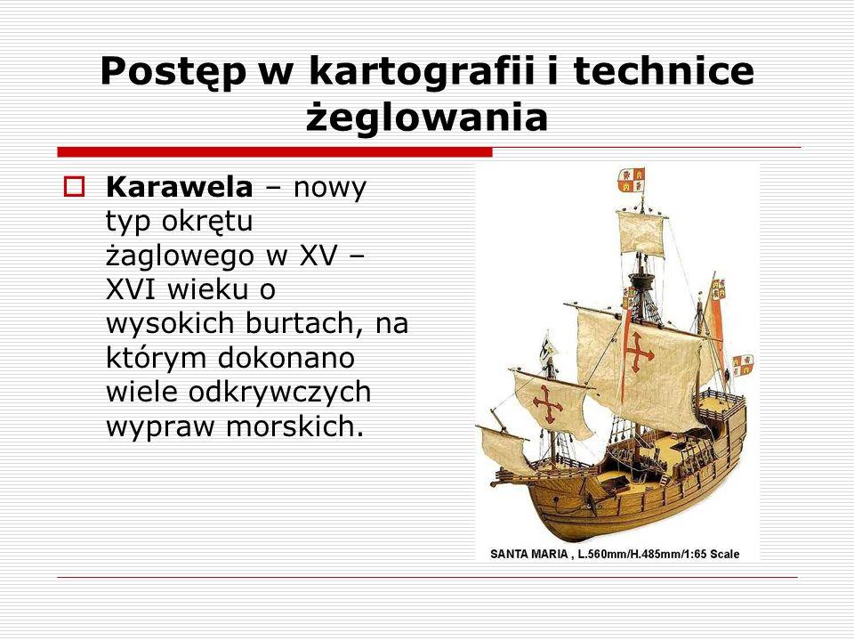Postęp w kartografii i technice żeglowania