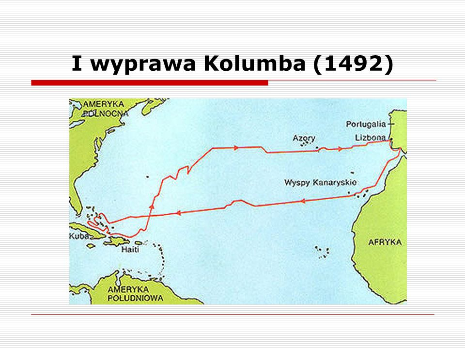 I wyprawa Kolumba (1492)