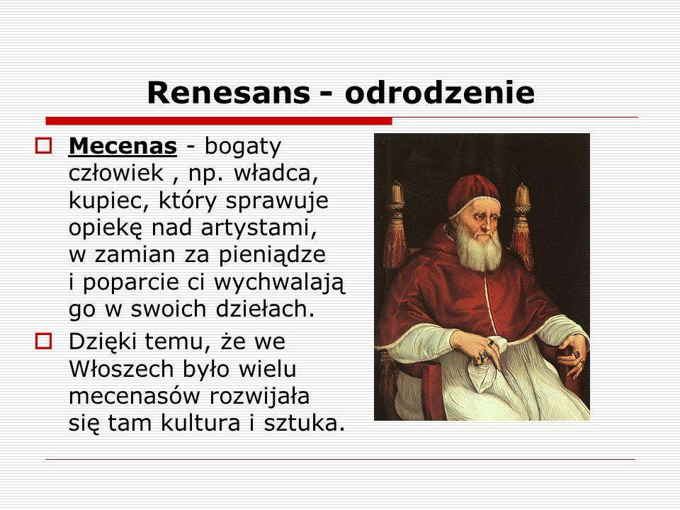 Renesans - odrodzenie