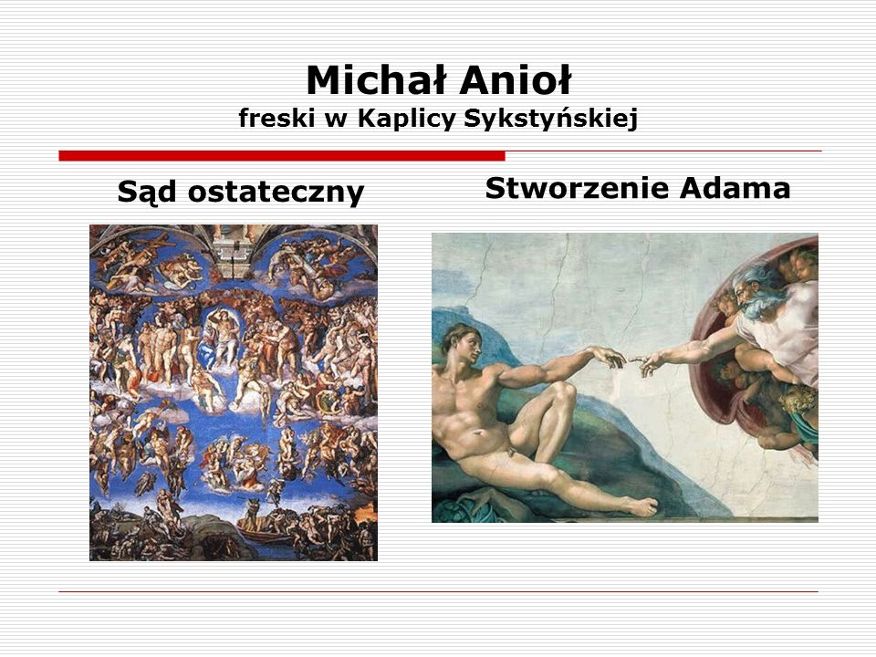 Michał Anioł freski w Kaplicy Sykstyńskiej