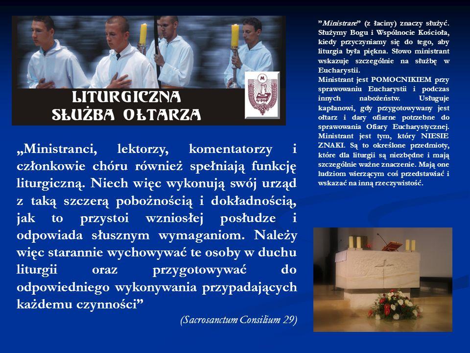 Ministrare (z łaciny) znaczy służyć