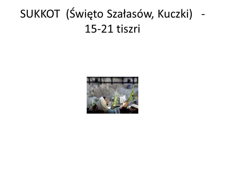 SUKKOT (Święto Szałasów, Kuczki) - 15-21 tiszri