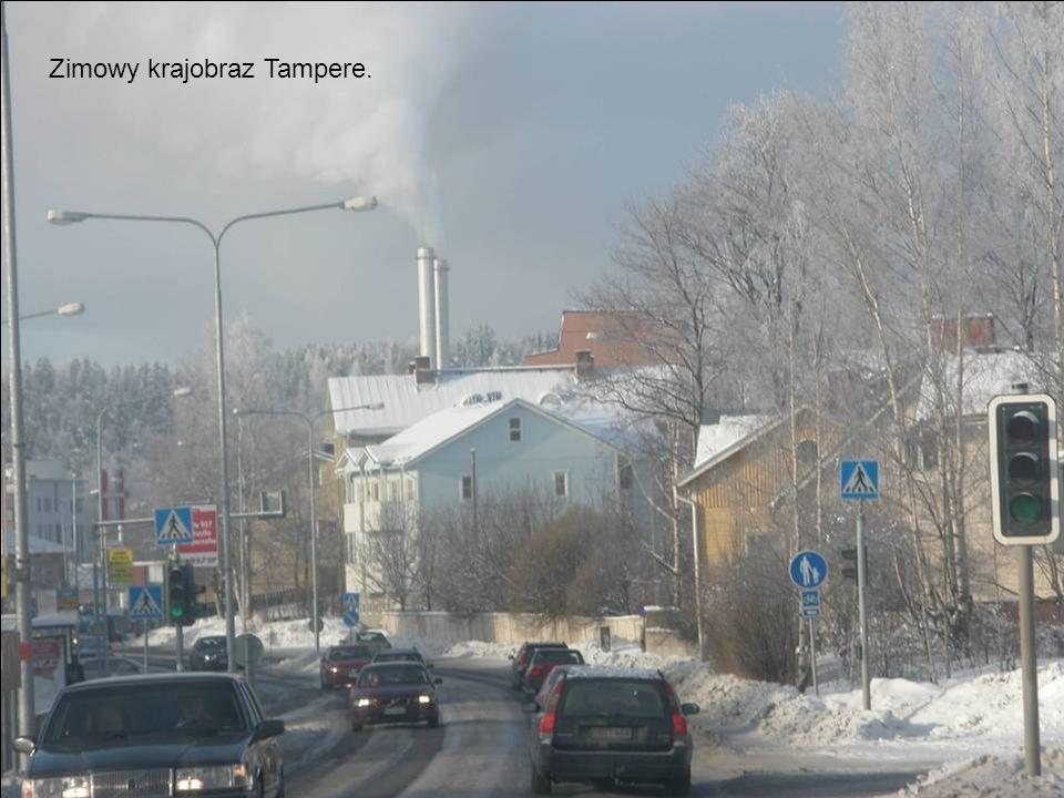 Zimowy krajobraz Tampere.